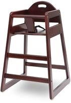 L.A. Baby Solid Wood High Chair