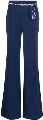 Elisabetta Franchi Belted Flare Trousers