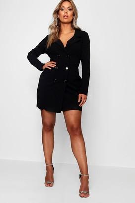 boohoo Plus Scuba Blazer Dress