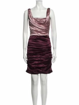 Dolce & Gabbana Silk Mini Dress Pink