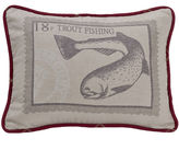 HIEND ACCENTS HiEnd Accents South Haven Printed Trout Decorative Pillow