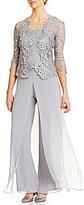 Emma Street Lace Chiffon Pant Set