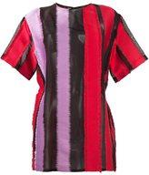 Versace stripe panel design T-shirt