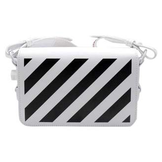 Off-White Off White Binder White Leather Handbags