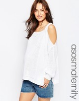 Asos Sweater With Cold Shoulder And Split Sides