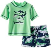 Carter's Baby Boy Shark Rash Guard & Swim Trunks Set