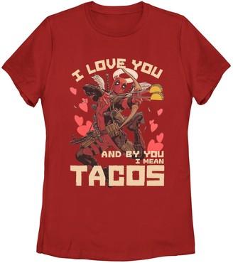 Juniors' Marvel Deadpool Taco Love Tee