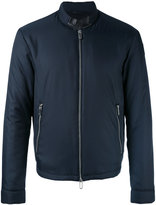 Emporio Armani banded collar lightweight jacket - men - Lamb Skin/Polyester - M