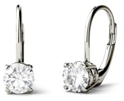 Charles & Colvard Moissanite Leverback Earrings (1 ct. t.w. Diamond Equivalent) in 14k white or yellow gold