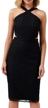 Forever New Ariana Halter Neck Cut Out Dress