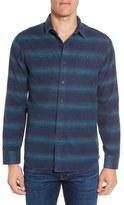 Grayers Lewellyn Trim Fit Striped Flannel Sport Shirt
