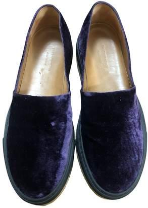 Dries Van Noten Purple Velvet Trainers