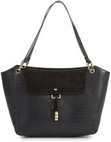 Kate Landry Wing Crocodile-Embossed Satchel