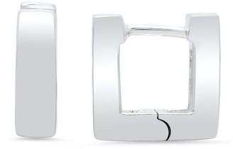 Roberto Martinez Sterling Silver Mini Square Hinged Hoop Earrings
