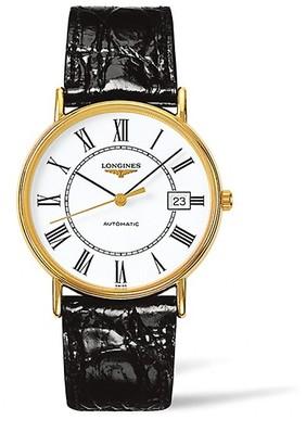 Longines Presence Leather Strap Watch