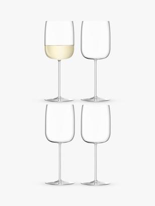 LSA International Borough White Wine Glasses, Set of 4, 380ml, Clear