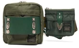 Toga X Porter Logo-patch Technical Belt Bag - Womens - Khaki