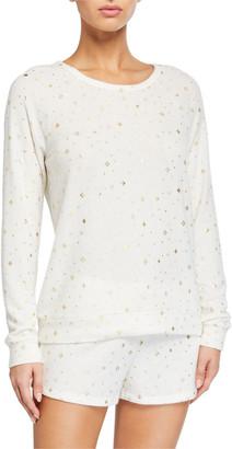 PJ Salvage Star-Pattern Long-Sleeve Shortie Pajama Set