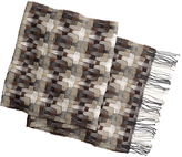 Johnston & Murphy Wool Basketweave Scarf