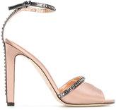 Jimmy Choo Kara 110 sandals - women - Leather/Crystal/Silk Satin - 37