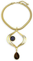 Ben Amun Sodalite, Carnelian and 24K Goldplated Lapis Pendant Necklace