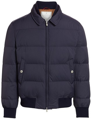 Brunello Cucinelli Padded Puff Bomber Jacket