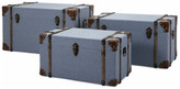Trunks Imax Worldwide Home 3-Pc 29.75 in. Trunk Set in Blue