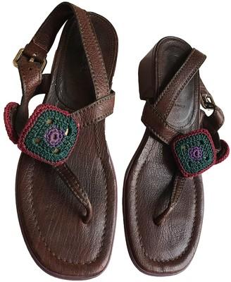 Prada Purple Leather Sandals