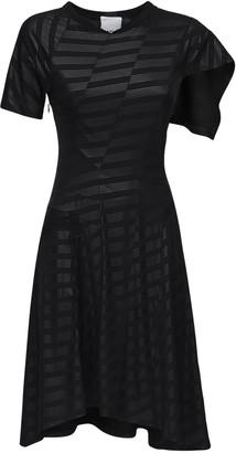 Koché Asymmetric Printed Stretch Jersey Dress