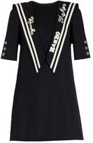 Dolce & Gabbana Embroidered sailor-collar gabardine dress