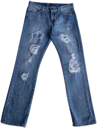 Benetton Blue Cotton Jeans for Women