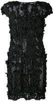 Talbot Runhof floral appliqué dress - women - Nylon/Polyester/Spandex/Elastane/Silk Organza - 34