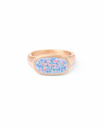 Kendra Scott Mel Rose Gold Cocktail Ring in Opal