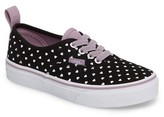 Vans Girl's Authentic Elastic Lace Sneaker