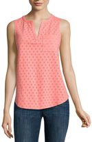 Liz Claiborne Split Neck Tank Top