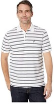 Nautica Stripe Polo (White) Men's Clothing