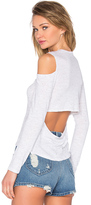Monrow Open Back Cut Out Tee