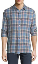 Frame Frayed Flannel Long-Sleeve Shirt