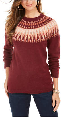 Style&Co. Style & Co Fair Isle Crewneck Sweater