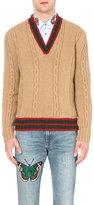 Gucci Striped-trim Wool Jumper