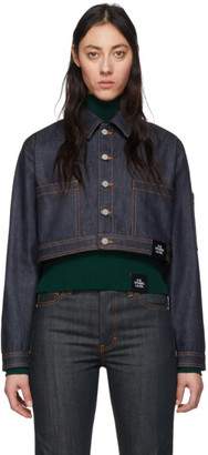 S.R. STUDIO. LA. CA. Indigo Denim Cropped Jacket