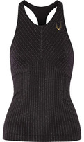 Lucas Hugh Technical Knit Stardust Metallic Striped Stretch Tank