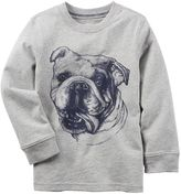 Carter's Baby Boy Long Sleeve Bulldog Graphic Tee