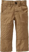 Old Navy Quilted-Knee Poplin Pants for Baby