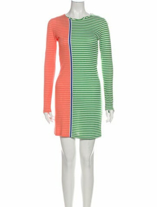 Opening Ceremony Striped Mini Dress Green