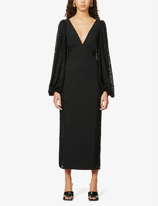 Camilla And Marc Danica floral lace-embroidered stretch-jersey midi dress