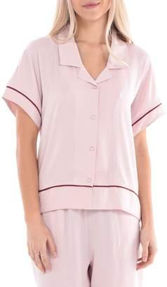 Paper Label Lucent Delilah Crinkle Sleep Shirt