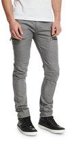J Brand Jeans Acrux Skinny-Fit Moto Jeans, Rinse Coxa