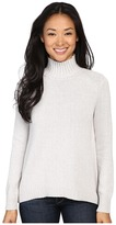 Lilla P Cotton Cashmere Novelty Stitch Turtleneck Women's Sweater
