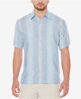 Cubavera Men's 100% Linen Textured Striped Shirt